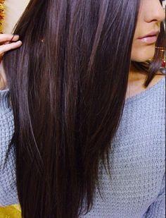 Long dark hair. Love. I want this rich colour.