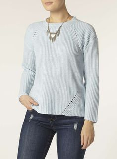 Blue Zip Back Jumper