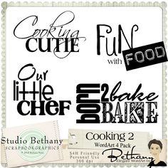Cooking Word Art
