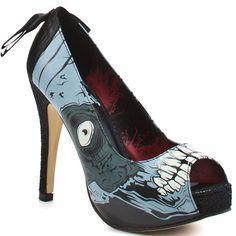 Coleção de sapatos inspirados em Zumbis