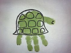 Turtle Handprint Craft for Kids! How cute is this?
