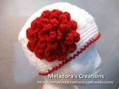 Flat Rose Crochet Flower - Meladora's Creations Free Crochet Patterns & Tutorials