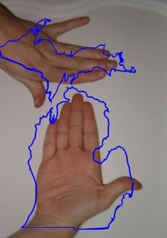 2. Being able to use your hands as maps to point out where you live. | 29 Things You Miss When You Leave Michigan