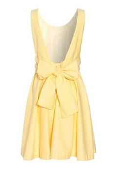 Yellow, low-back and a bow.. Yes please!