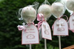 baptism favors, party favors, designer handbags, cake pops, christening party
