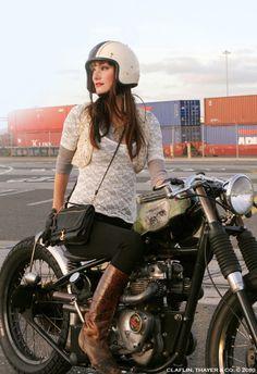MildlyIndistinct. go girls, style, biker girl, motorcycle girls, girl power, motorcycl girl, bobber girl