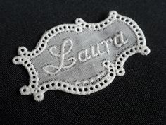embroidered name tag