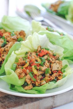 Chipotle Chicken Lettuce Wraps - minus corn for #whole30