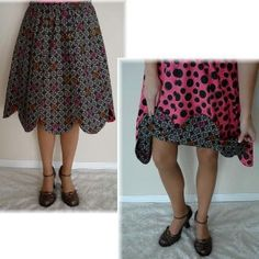 Reversible Petal Skirt - Jrs-Plus Sizes