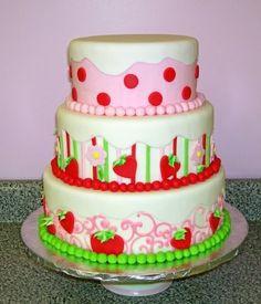 birthday parti, strawberry shortcake cakes, strawberry shortcake birthday, birthday idea, themed cakes, kid parties, parti idea, birthday cakes, strawberri shortcak