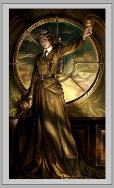 Queen of Cups, Steampunk Tarot.