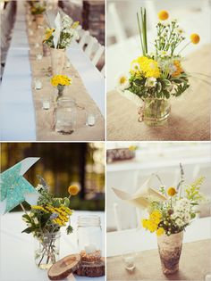 table decorations - pretty and simple