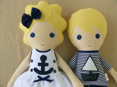 Custom Listing for Debbie  Fabric Doll Rag Dolls by rovingovine