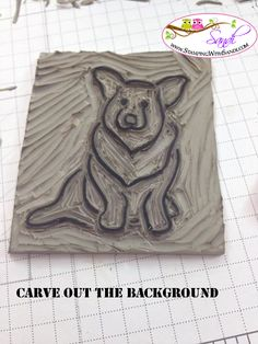 Corgi pup (Miss Lucy) by Sandi -  Undefined stamp Carving Kit from Stampin Up www.stampingwithsandi.com