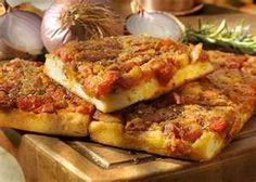 Sfincione - rustic pan pizza