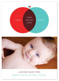Adorable ideas for birth announcements