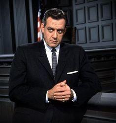 """Perry Mason,"" Raymond Burr C. 1963"