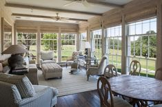 Amazing sunroom ideas on a budget...how to build and decorate a sunroom...affordable small sun porch design ideas...screened in porch / patio decor.