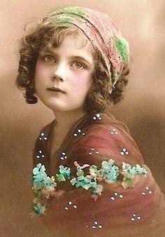 vintage gypsy girl photo ...