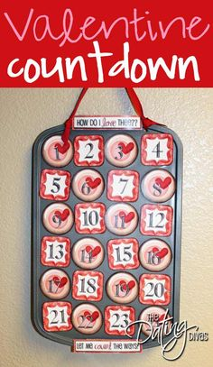 #papercraft #Valentines projects: countdown calendar #papercrafting #homedecor