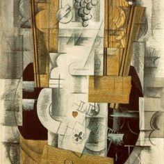 Painter of the Week: Braque. Today: Nature morte (Fruit Dish, Ace of Clubs), 1913 | Yareah Magazine