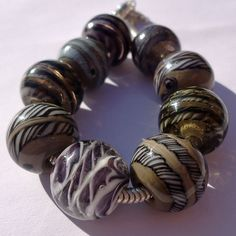 Industrial bracelet bead collection and 75 inch by BuzzwordBeads, £97.00