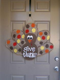 thanksgiv door, door decor, wreath