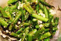 Grilled asparagus & feta