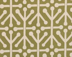 Premier Prints Aruba Felix Green Natural Fabric 1 Full Yard from The Fabric Dock