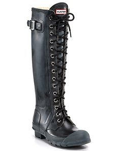 Hunter Boot Gloss Watling Lace-Up Boots