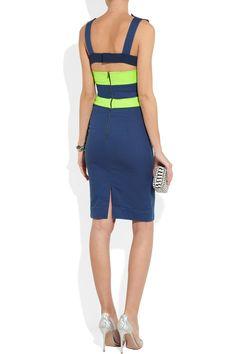 Preen Line|Harbour stretch cotton-drill dress|NET-A-PORTER.COM