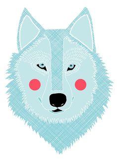 big bad wolf christmas cards, alic potter, anim, blue, rebecca potter, art prints, alic rebecca, illustr, winter wolf