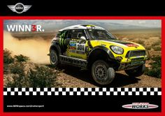 Congrats to the X-raid Team on a hat-trick win at Dakar 2014. Go MINI go!