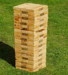 I learned of Giant Jenga while on a job in the Turks and Caicos Islands while at a local bar one night. My co worker and I played this games and...