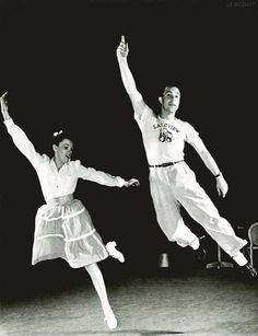 Judy Garland and Gene Kelly rehearsing, ca. 1942
