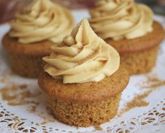 Maple Cupcakes With Maple Butter Cream.