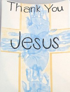 thank you jesus handprint platter by PicassoZ, via Flickr