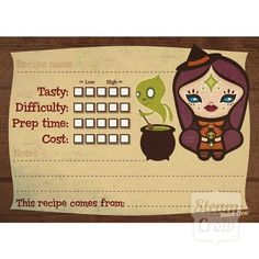Recipe Card 5 Pack from Steamcrow