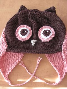 Owl Hat: free knitting pattern