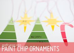 DIY paint chip ornaments - how have I not thought of this