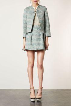 coord, jacket skirt, jackets, notch neck, aztec notch, neck jacket, topshop aztec, topshop skirt, skirt suit
