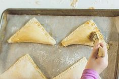 Here's a yummy recipe for apple turnovers — apples and cinnamon covered in flaky, golden brown puff pastry is the perfect way to start a day!