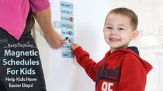 Easy Daysies magnet schedules for kids helps kids get organized and into routine