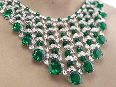 bling, emeralds, chopard, diamonds, green, diamond necklac, necklaces, emerald necklac, jewelri