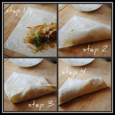 How to wrap and make crispy baked eggrolls (basic recipe)