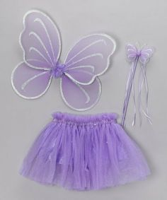 Purple Fairy Princess Costume Tutu Set with Pink Butterfly Fairy Wing and Pink Butterfly Wand for girls dress up and birthday costumes (3 piece set) -- Large by Heart to Heart, http://www.amazon.com/dp/B007YUXUQK/ref=cm_sw_r_pi_dp_ePDFrb0AVZPXW