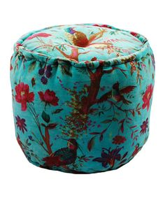 Take a look at this Blue Velvet Pouf by Modelli Creations on #zulily today!