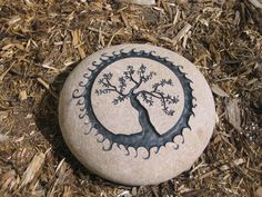 Engraved Olive Tree.