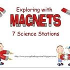 Magnet Science Stations for Little Ones. Printable signs/instructions for 7 magnet science stations to help little ones explore