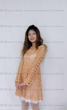 Tığ işi elbise ve şeması | DANTELMODELLER